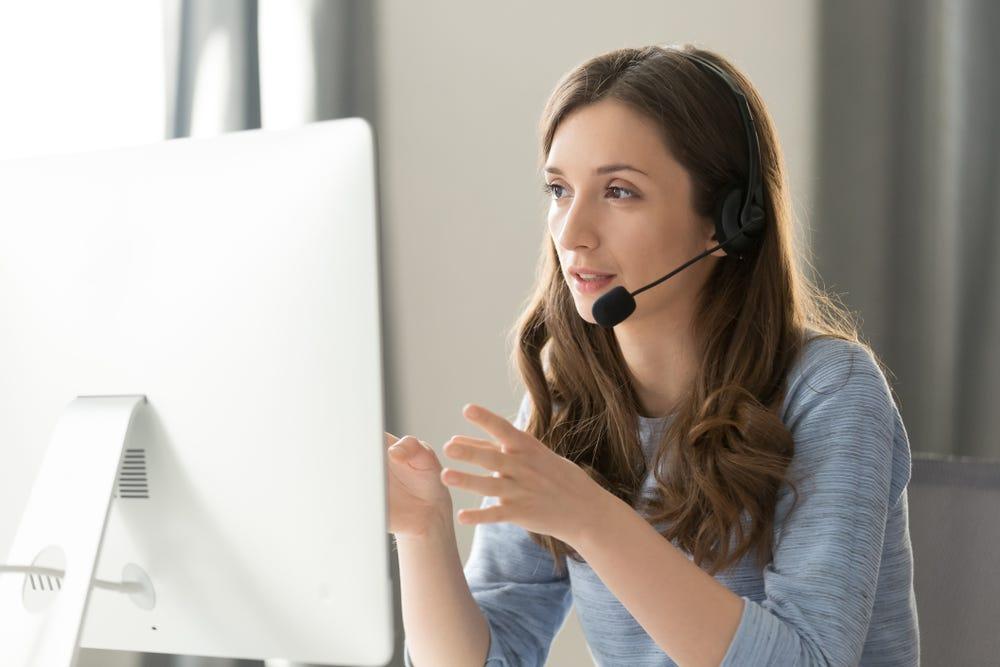 female technical support team member